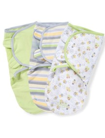 "Summer Infant ""SwaddleMe"" Конверт для пеленания (3 шт. в комлекте), 71180 / Нейтральный с пчелками,"
