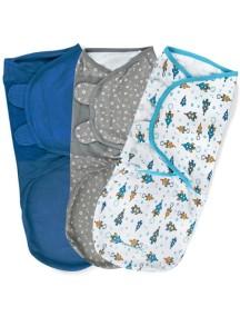 """Summer Infant """"SwaddleMe"""" Конверт для пеленания (3 шт. в комлекте), 75960 / Суперзвезда, L"""
