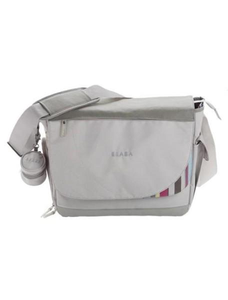 """Beaba """"Madrid"""" Стильная удобная сумка для мамы [ art. 94015 ], 940152 / Gris raye"""