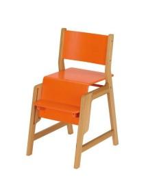 """Herlag-Kettler """"DUO"""" Стульчик детский многофункциональный , 9006 / Natural - Orange"""