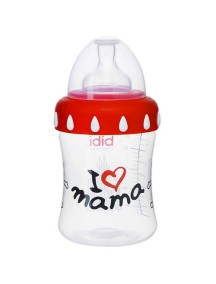 "Bibi ""Mama Papa"" Бутылочка для кормления 250 мл , Мама"