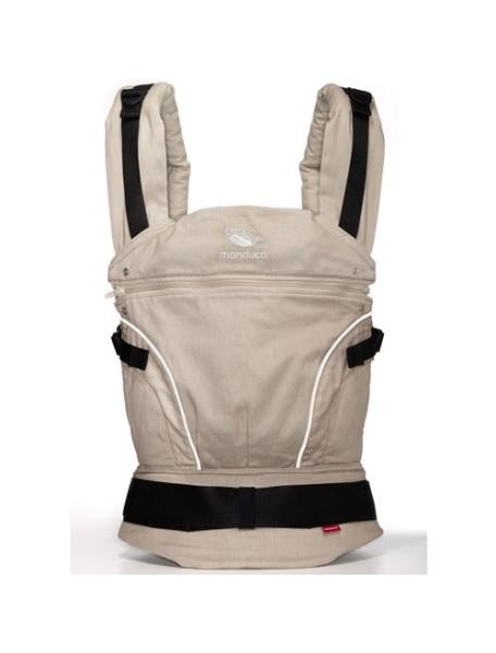 """Manduca """"PureCotton"""" Эргономичный слинг-рюкзак для переноски ребенка, Desert sand (Песок)"""