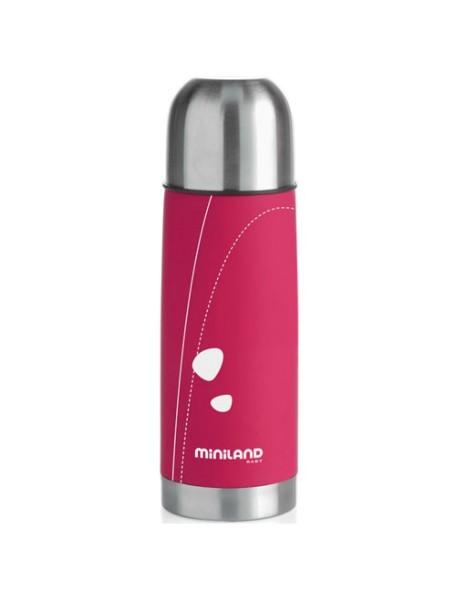 "Miniland ""Soft Thermo"" Термос для жидкостей 350 мл., 89118 / Розовый"