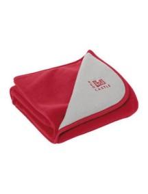 """Red Castle """"Double Fleece Blanket"""" Одеяло из дублированного флиса , 080166 / Red - Grey"""