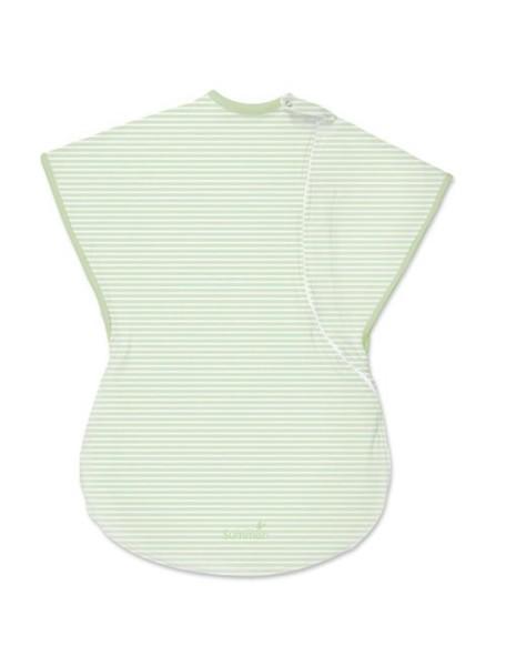 """Summer Infant """"SwaddleMe Comfort Me"""" Конверт для пеленания с 2-мя способами фиксации, 76640 / Зеленый с белыми полоска"""