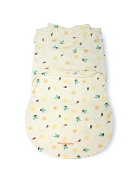 "Summer Infant ""SwaddleMe WrapSack"" Конверт для пеленания с 2-мя способами фиксации, 76310 / Пчелки, S/M"