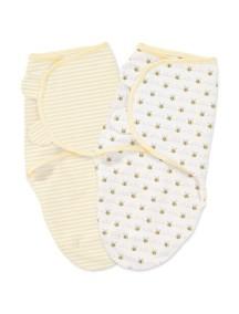 "Summer Infant ""SwaddleMe"" Конверт для пеленания (2 шт. в комлекте), 76490 / Белый с пчелками, S/M"