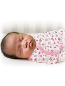 """Summer Infant """"SwaddleMe"""" Конверт для пеленания с рождения и до 4-х месяцев, 71475 / Цветы - бабочки, S/M"""