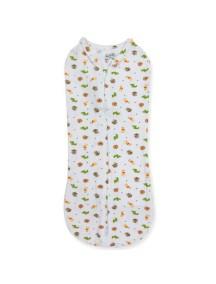 """Summer Infant """"SwaddlePod"""" Конверт для пеленания новорожденных на молнии, 70010 / Белый с животными, S"""
