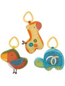 Развивающая игрушка-погремушка  Skip Hop Giraffe Safari Rattle Trio (Три персонажа)