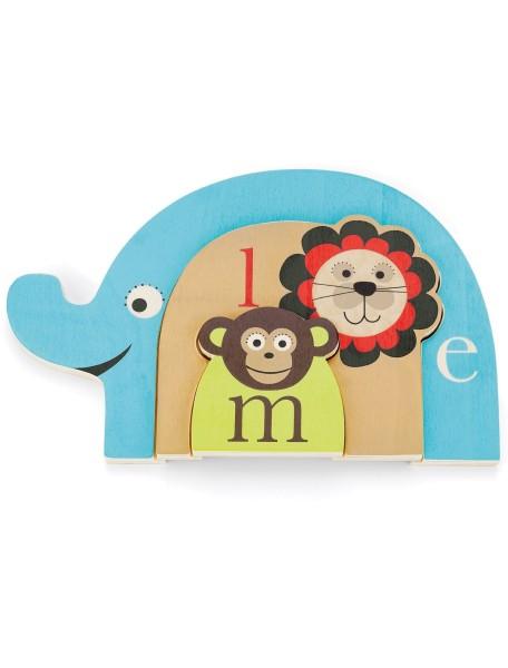 Развивающая игрушка из дерева Skip Hop Alphabet Zoo - Alphabet Nesting Animal Puzzle