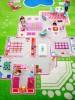 Детский гипоаллергенный игровой 3D ковер IVI, Игровой домик зеленый - 100х200 см.