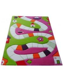 Детский гипоаллергенный игровой 3D ковер IVI, Игровая дорожка розовая - 134х180 см.