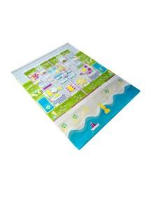 Детский гипоаллергенный игровой 3D ковер IVI, Твин Хауз бирюзовый - 134х180 см.