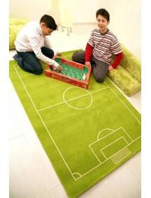 Детский гипоаллергенный игровой 3D ковер IVI, Футбольное поле - 134х180 см.