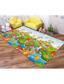 """Dwinguler """"Big-15"""" Коврик игровой детский развивающий (2300х1400х15) Dino Land / Остров динозавров (Русские буквы)"""
