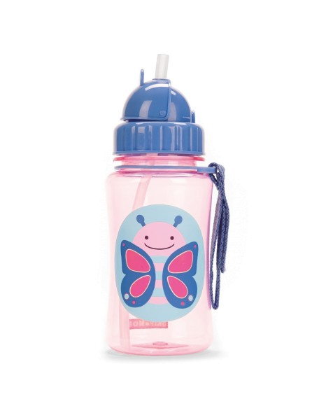 Детский поильник Skip Hop Zoo Straw Bottle - Butterfly (Бабочка)