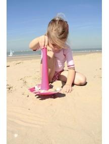 Универсальная игрушка для пляжа Triplet от Quut «Кьют» розовый