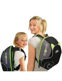 """Trunki """"BosstApak"""" Универсальный детский рюкзак-бустер, Черно-зеленый"""