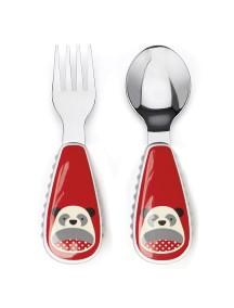 Развивающий набор Ложка и Вилка Skip Hop Zoo Utensils - Panda (Панда)