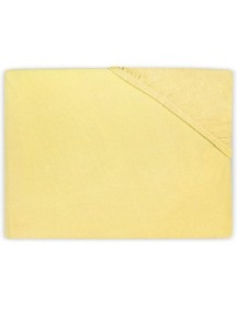 Простыня на резинке Jollein 60х120 см, цвет желтый (джерси)