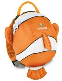 Рюкзак с поводком LittleLife - Рыбка-клоун (1-4) оранжевый с белым