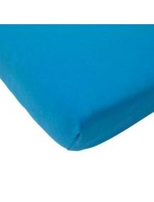 Простыня на резинке Jollein 60х120 см, цвет голубой (джерси)