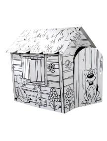 "Домик из картона ""Веселая ферма"" CartonHouse, размер 88х72х88см"