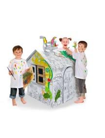 """Домик из картона """"Джунгли"""" CartonHouse, размер 80х63х87см"""