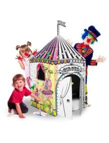 """Домик из картона """"Цирк"""" CartonHouse, размер 100х86х118см"""