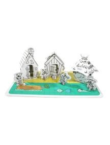 """Домик из картона """"Три Поросенка"""" CartonHouse, размер 40х27х14см"""