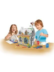 "Домик из картона ""Сельский домик"" мини CartonHouse, размер 42х34х51см"