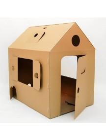 """Домик из картона """"Мой первый дом"""" CartonHouse коричневый, размер 94х65х91см"""