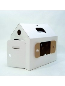 """Домик из картона """"Мой первый дом""""  / Картонный папа/ белый, размер 94х65х91см"""