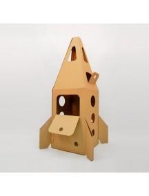 """Домик из картона """"Ракета на Марс"""" CartonHouse, коричневый, размер 94х65х91см"""