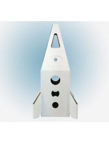 """Домик из картона """"Ракета на Марс"""" CartonHouse,  белый, размер 94х65х91см"""