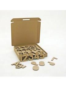 """Набор игровой из картона """"МногоБукв"""" (учим алфавит, цифры и слова), размер 46х6,7х45,5см"""