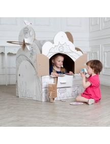 "Домик из картона ""Фэнтези"" CartonHouse, размер 98х68х98см"