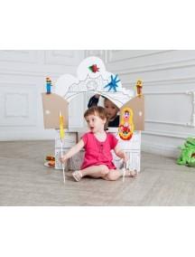 Домик из картона «Я играю в TIP-ТЕАТР» CartonHouse, размер 98х68х98см
