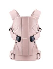 """BabyBjorn """"One IceCream"""" Многофункциональный рюкзак-кенгуру для ношения ребёнка на груди и на спине, Клубничный"""