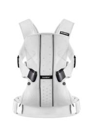 """BabyBjorn """"One"""" Многофункциональный рюкзак-кенгуру для ношения ребёнка на груди и на спине, White, Mesh"""