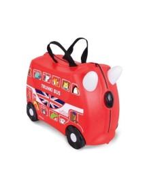 """Trunki / """"Hamleys - Автобус"""" / Детская каталка-чемодан с наклейками Транки"""