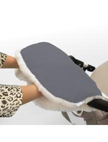 Муфта для рук на коляску универсальная Esspero Soft Fur - Grey (серый)