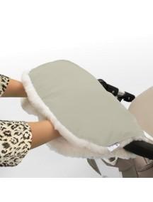 Муфта для рук на коляску универсальная Esspero Soft Fur - Beige (бежевый)