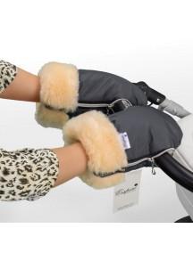 Муфта-рукавички для коляски универсальная Esspero Double - Grey (серый)
