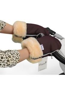 Муфта-рукавички для коляски универсальная Esspero Double - Chocolat (шоколад)
