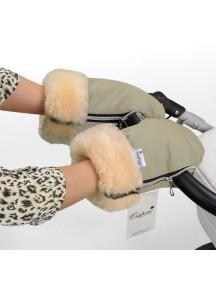 Муфта-рукавички для коляски универсальная Esspero Double - Beige (бежевый)