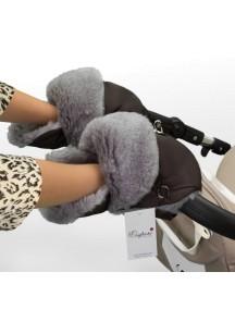 Муфта-рукавички для коляски универсальная Esspero Christoffer - Chocolat (шоколад)