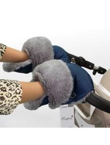 Муфта-рукавички для коляски универсальная Esspero Christoffer - Navy (синий)