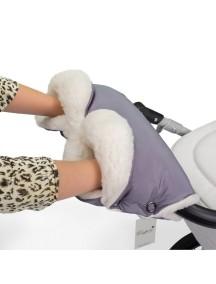 Муфта для рук на коляску универсальная Esspero Soft Fur Lux - Grey (серый)